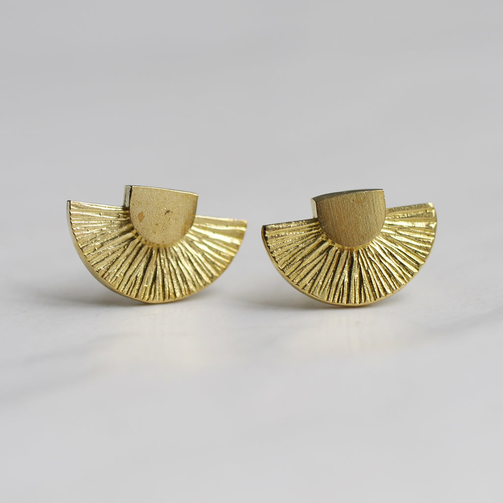 Art Deco Stud Earrings - Earrings
