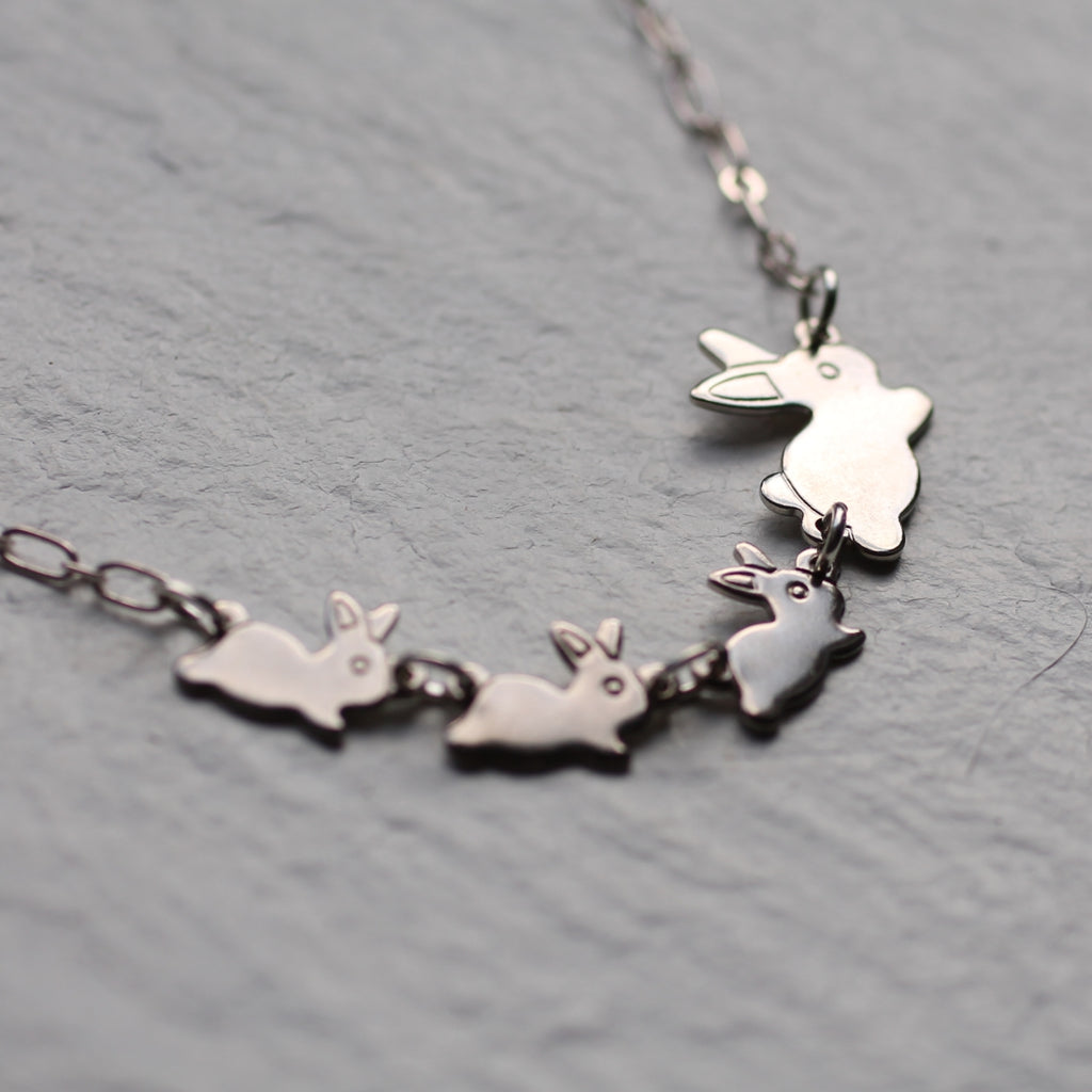Rabbit Family Necklace - Necklaces