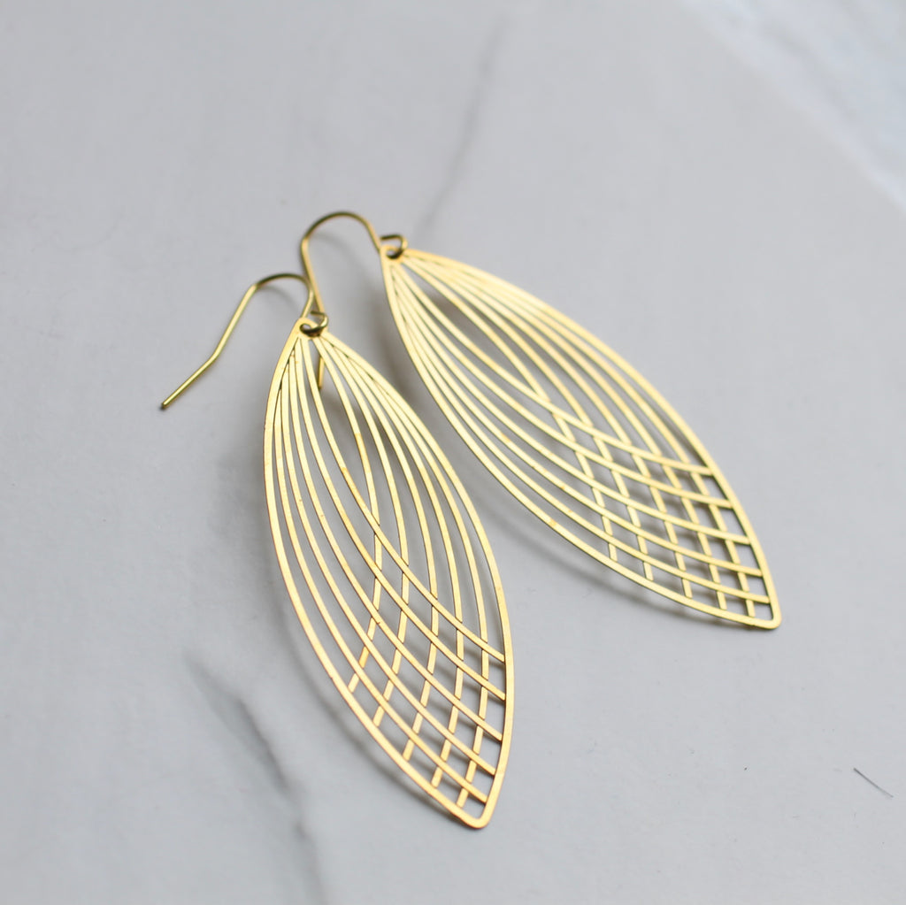 Nouveau Drop Earrings - Earrings