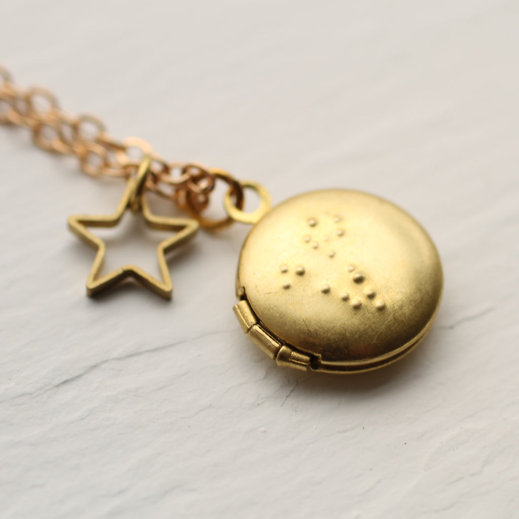 Tiny Zodiac Constellation Locket -