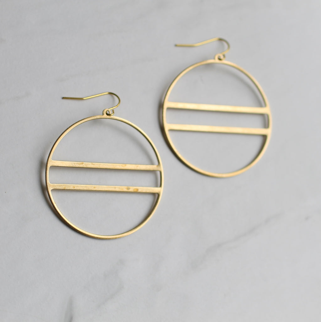 Modern Hoop Earrings - Earrings