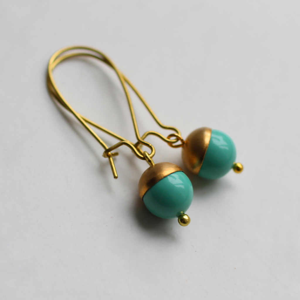 Tiny Acorn Earrings - Earrings