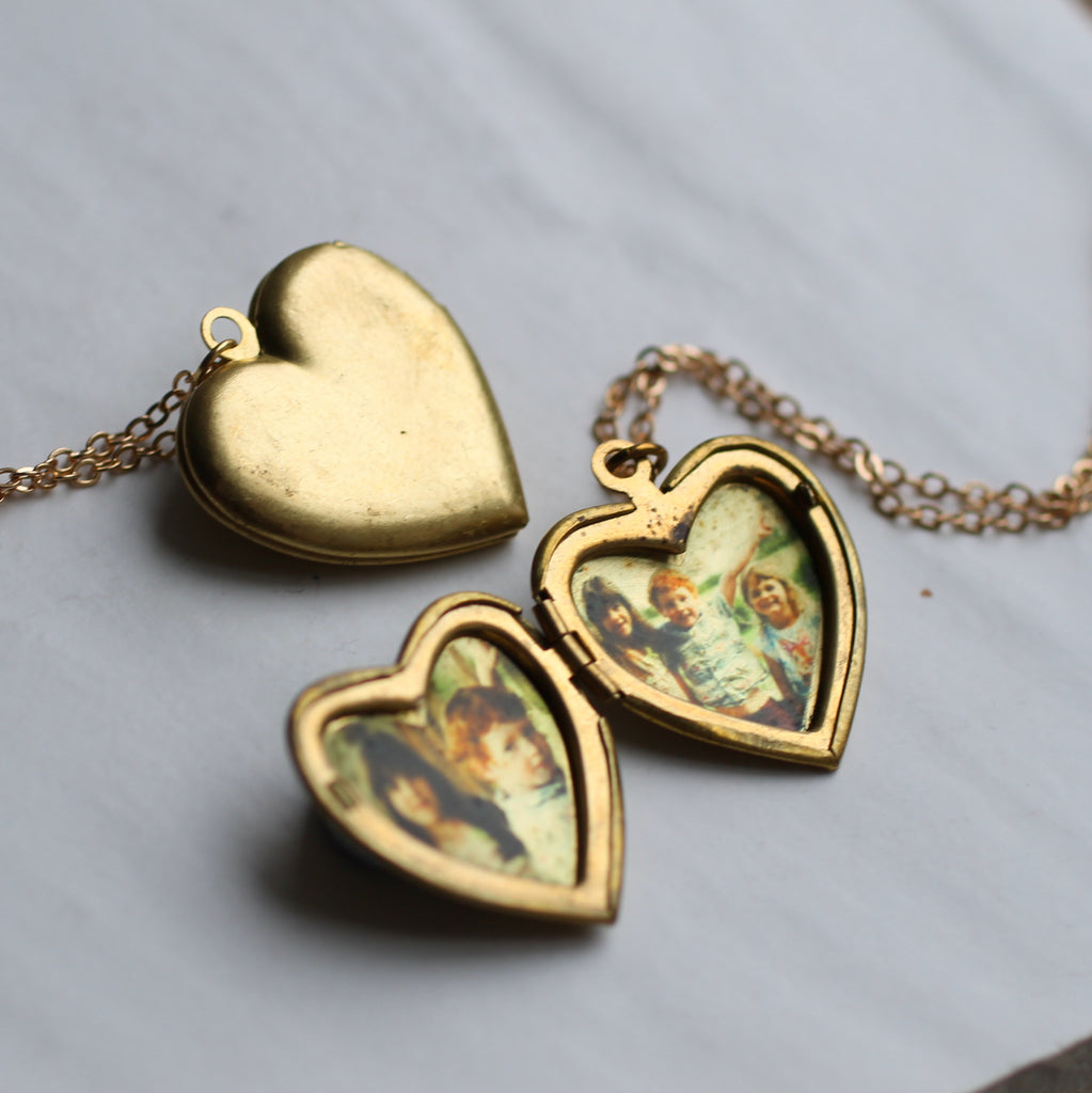 Simple Heart Locket - Necklaces