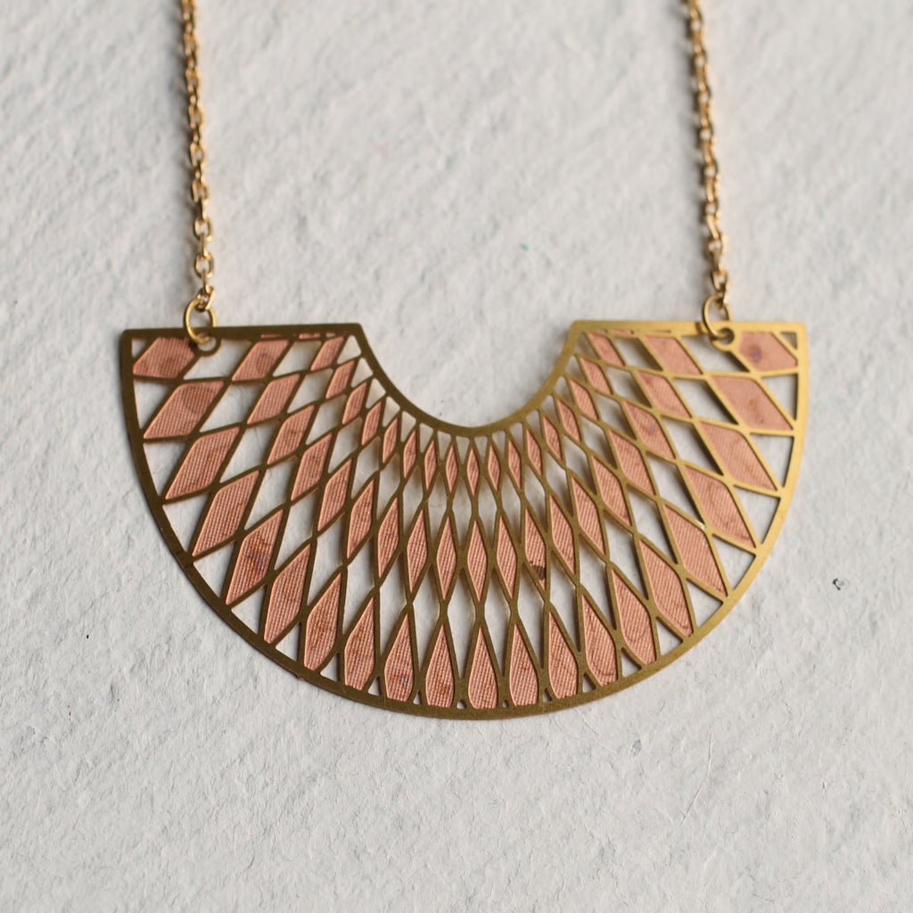 Art Deco Harlequin Necklace - Necklaces