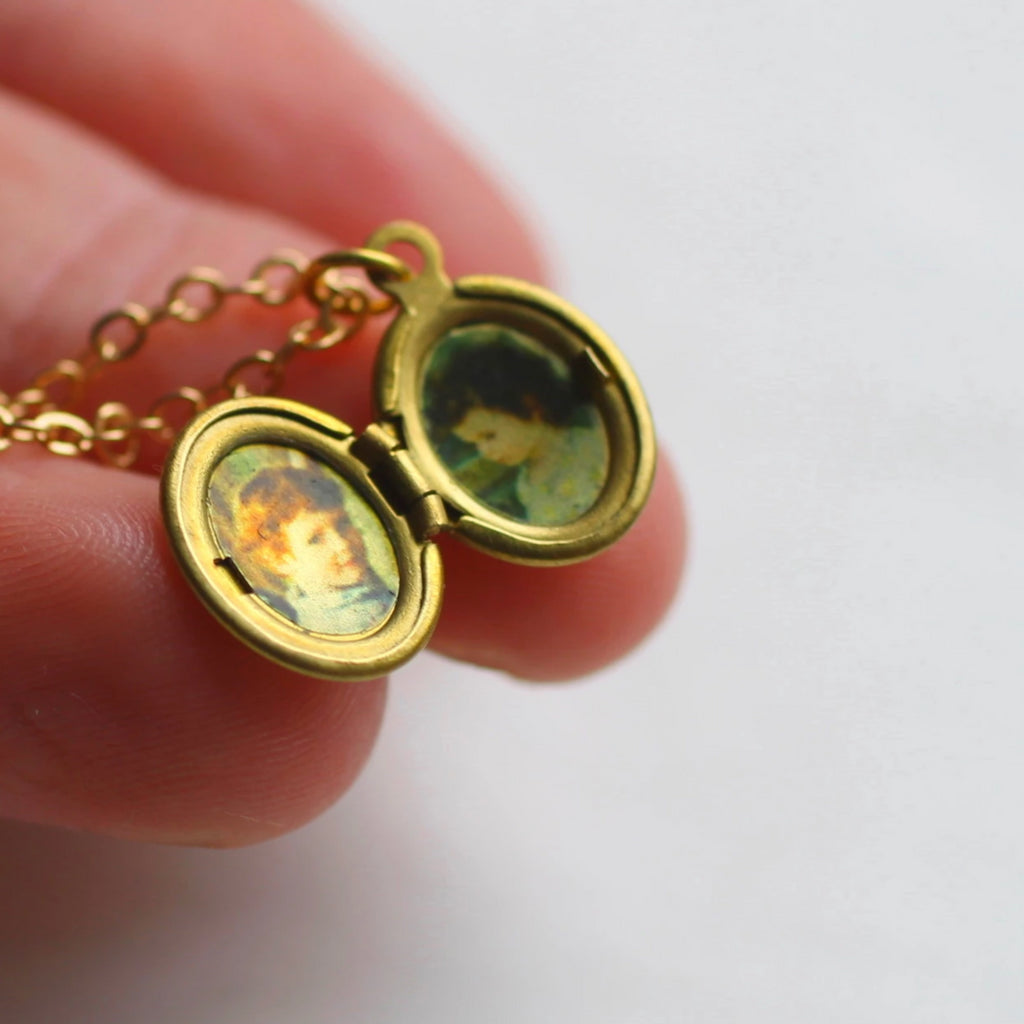 Tiny Oval Locket - Necklaces