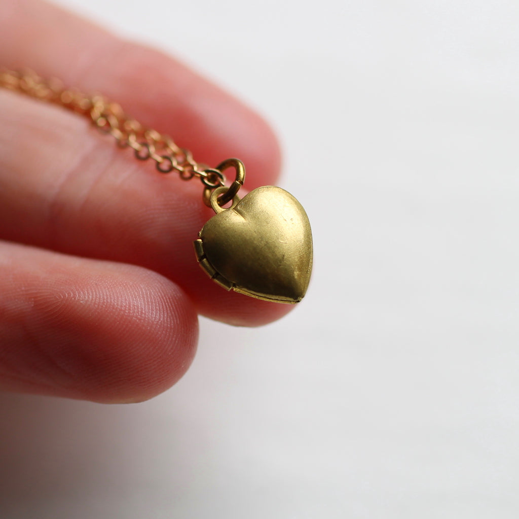 Tiny Heart Locket - Necklaces