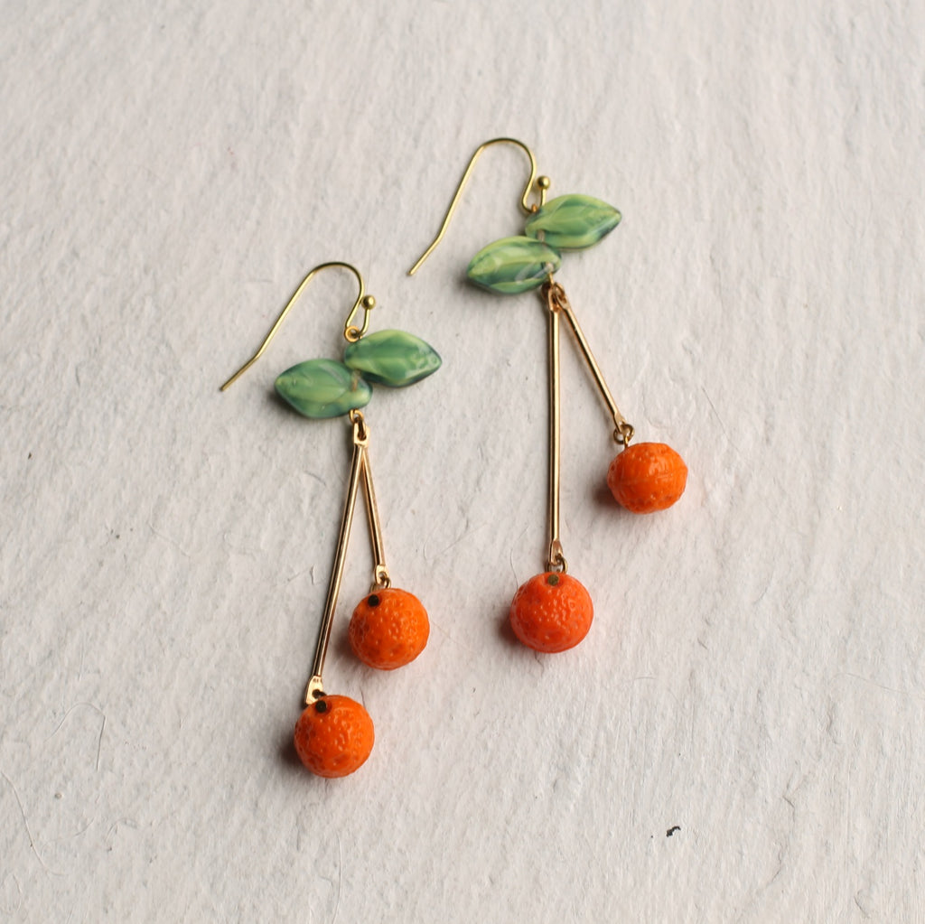 Orange Tree Earrings - Earrings
