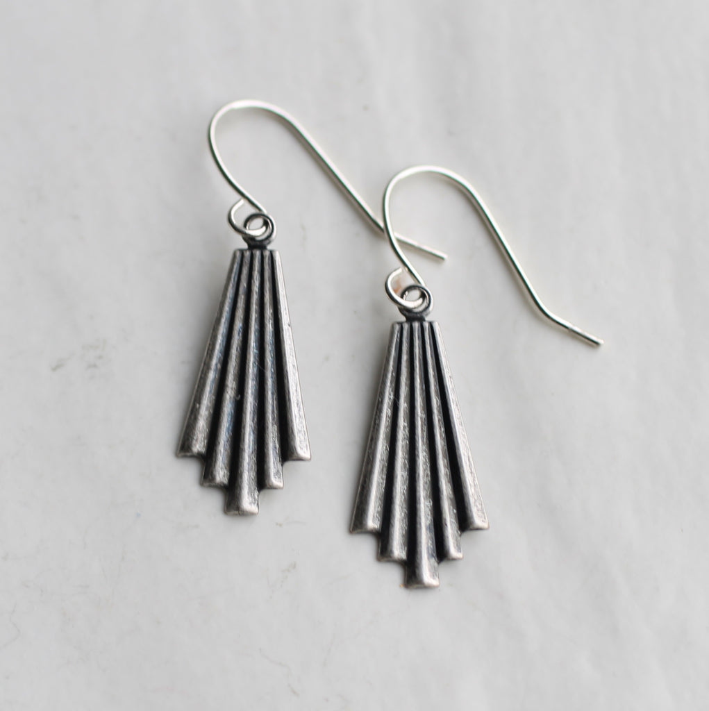 Silver Chrysler Earrings - Earrings