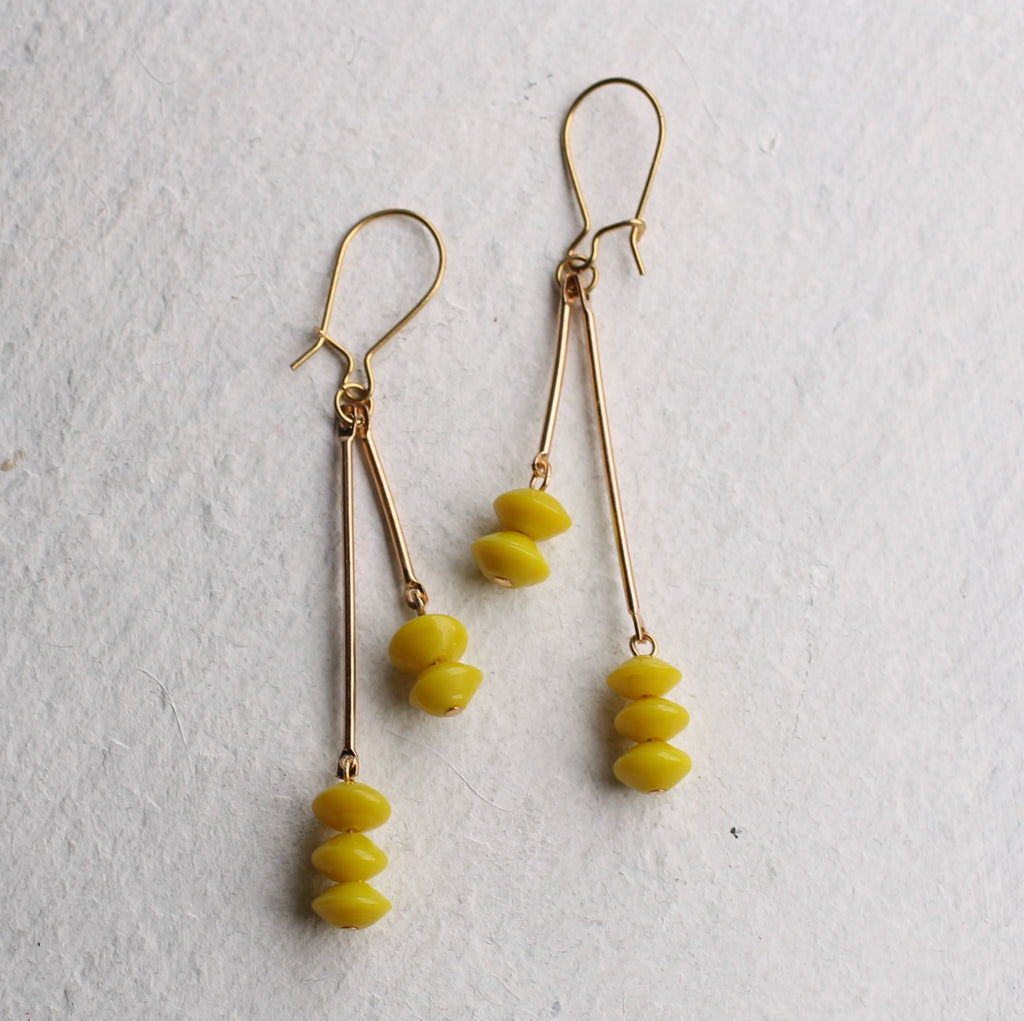 Sherbet Lemon Earrings - Earrings