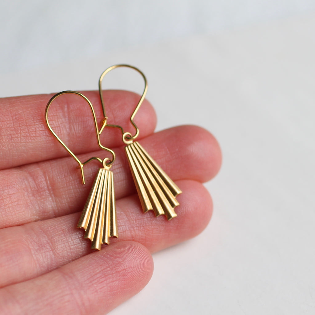 Chrysler Deco Earrings - Earrings