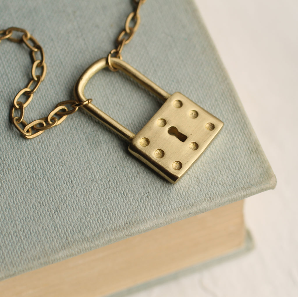 Chunky Padlock Necklace - Necklaces
