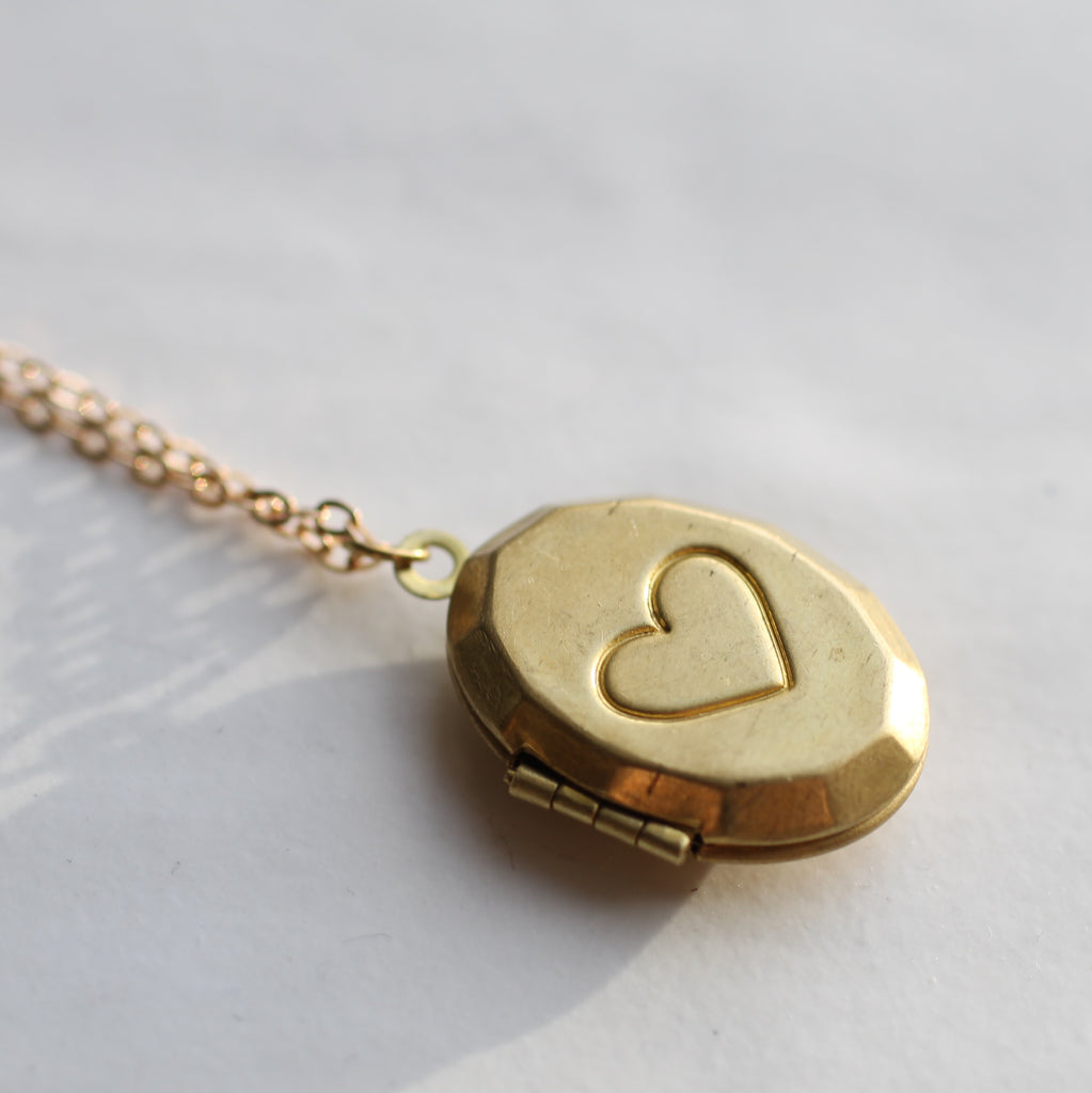 Engraved Heart Girls Necklace - Necklaces