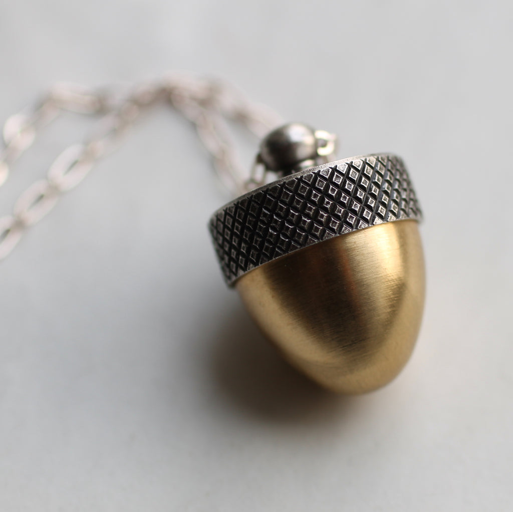 Acorn Locket - Necklaces