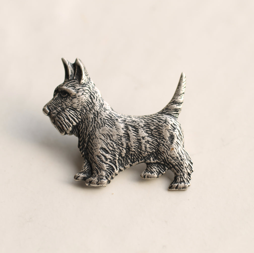 Terrier Dog Brooch - Brooches & Pins