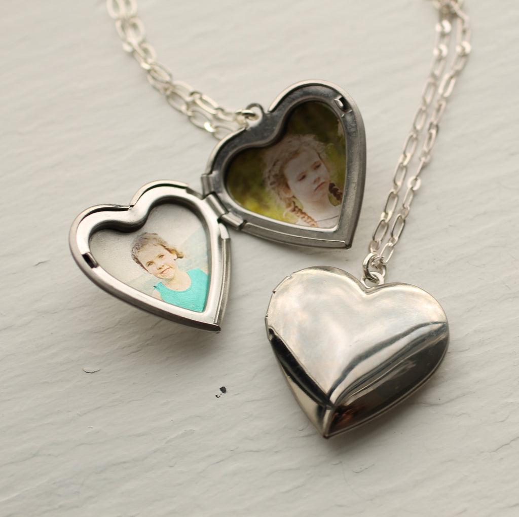 Silver Heart Locket - Necklaces