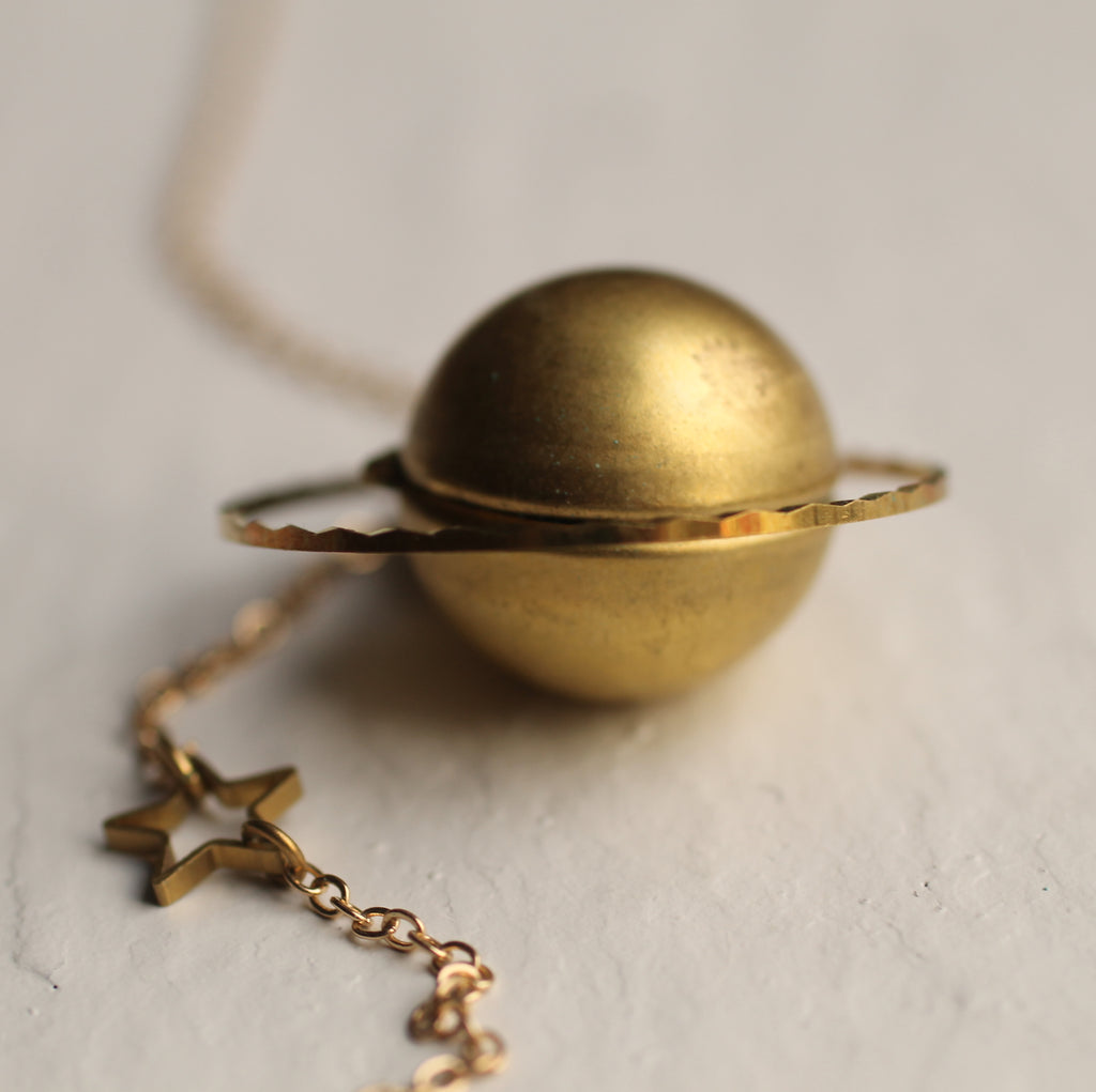 Planet Locket Necklace - Necklaces
