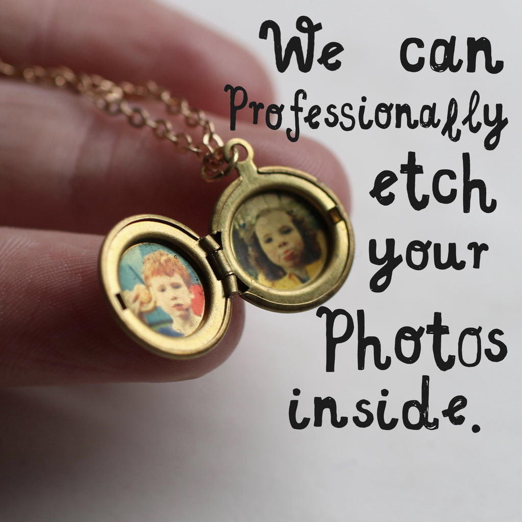 Reaching Hand Locket with Photos - Necklaces