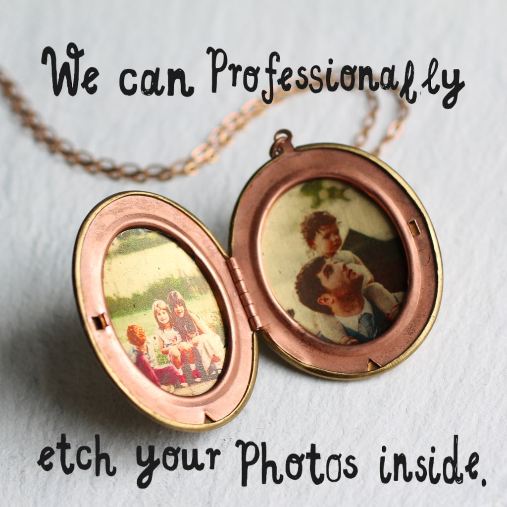 Victorian Personalised Photo Locket - Necklaces