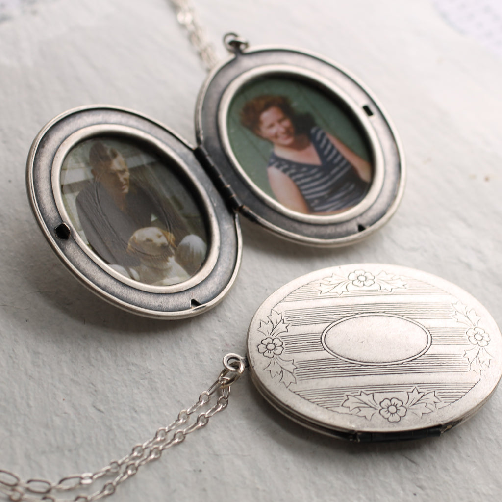 Silver Victorian Locket - Necklaces