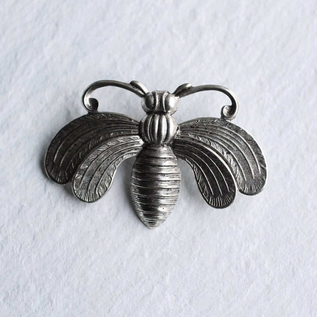 Silver Bee Brooch - Brooches & Pins