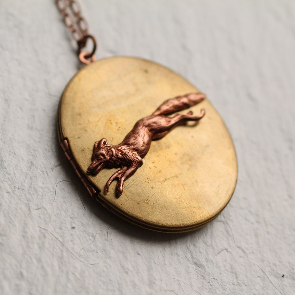 Fox Locket - Necklaces