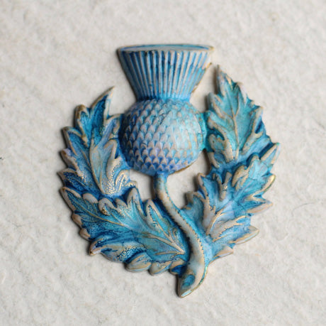 Blue Thistle Brooch - Brooches & Pins