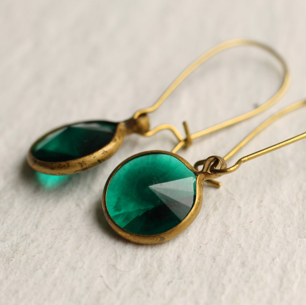 Classic Jade Earrings -