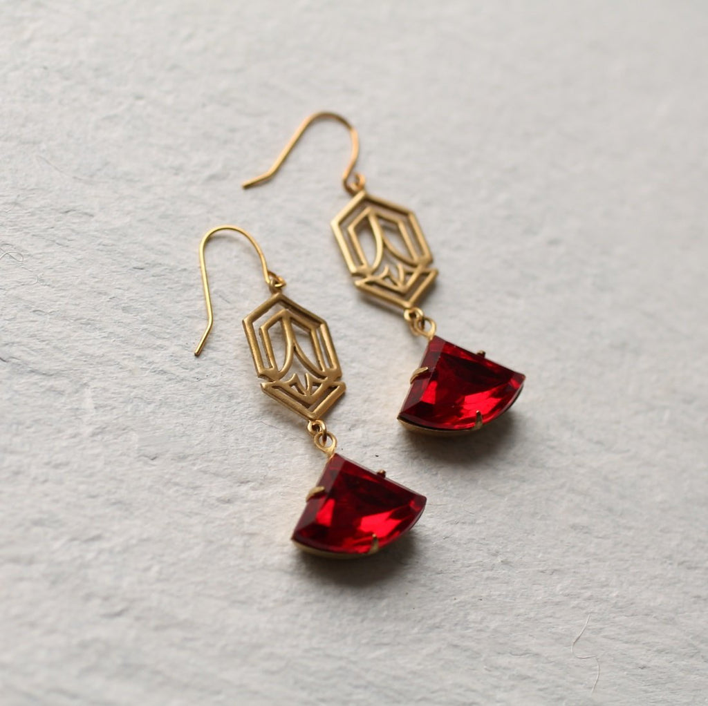 Red Deco Earrings - Earrings