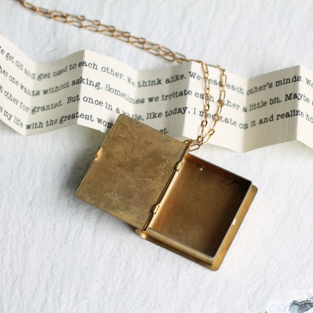 Love Story Book Locket - Necklaces
