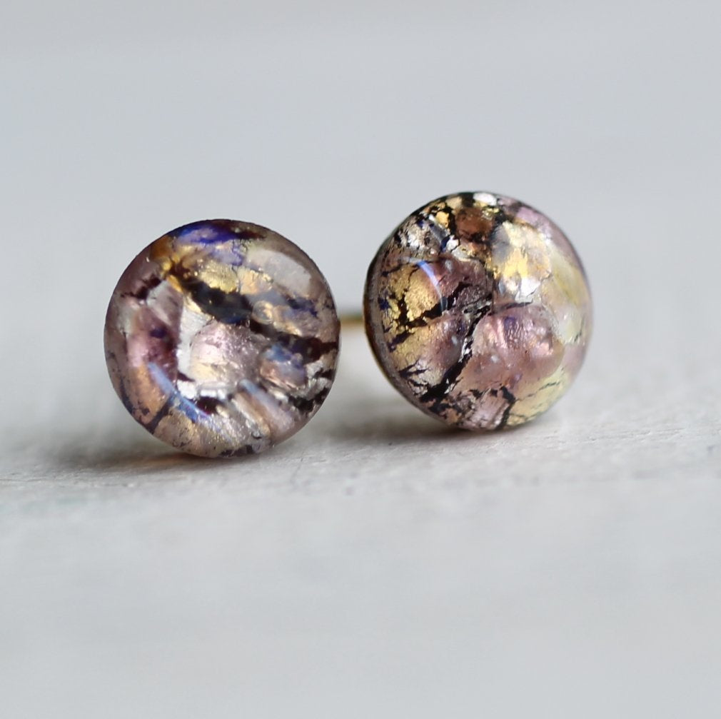 Amethyst Opal Earrings