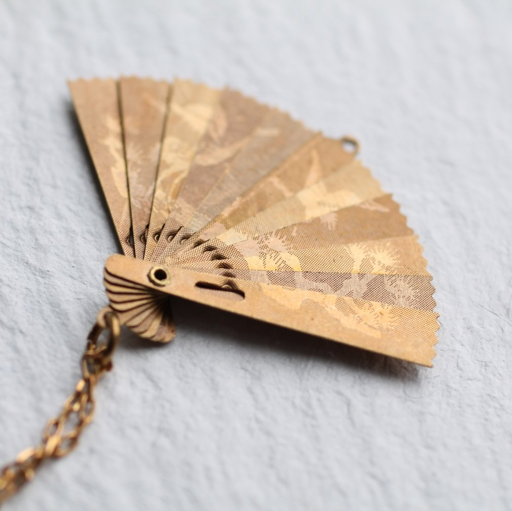 Japanese Fan Necklace - Necklaces