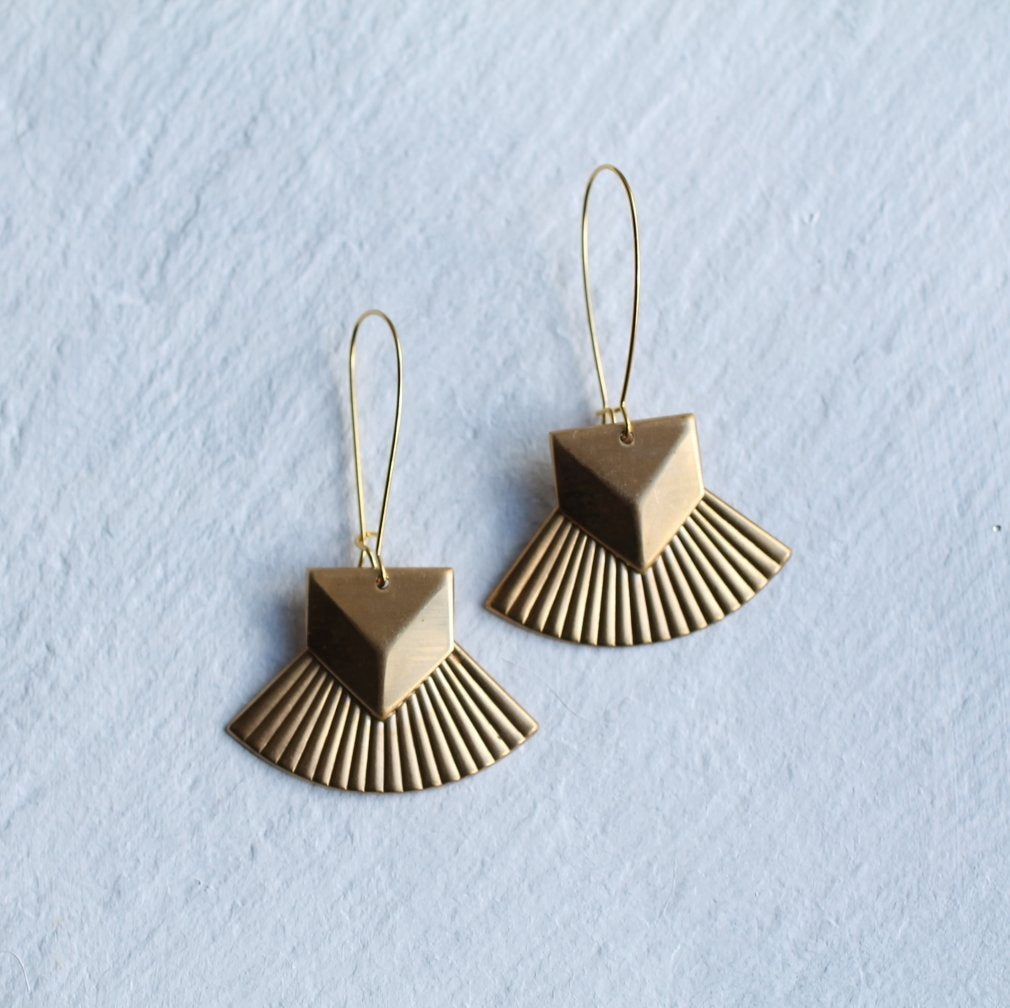 Military Scallop Earrings - Earrings