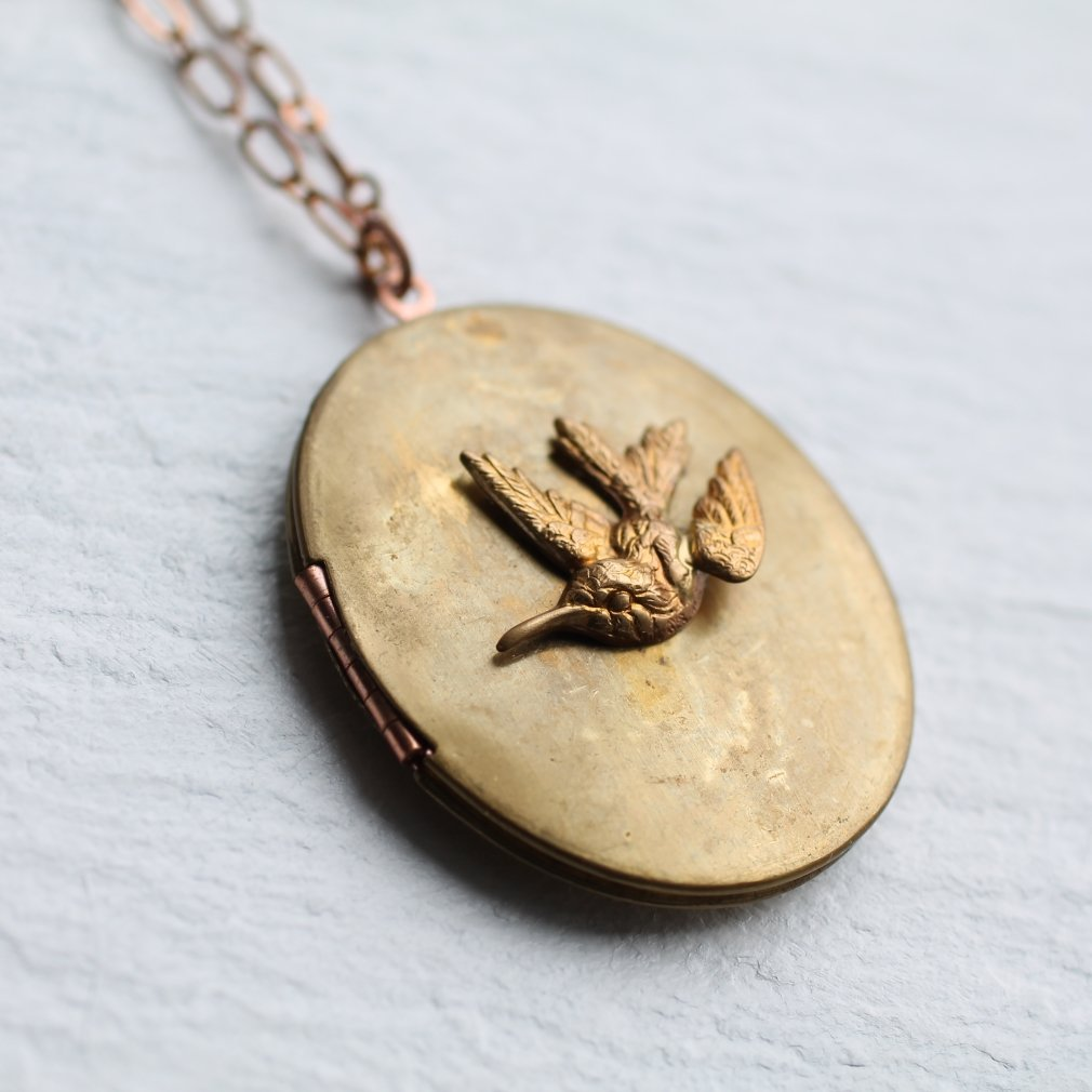 Hummingbird Locket - Necklaces