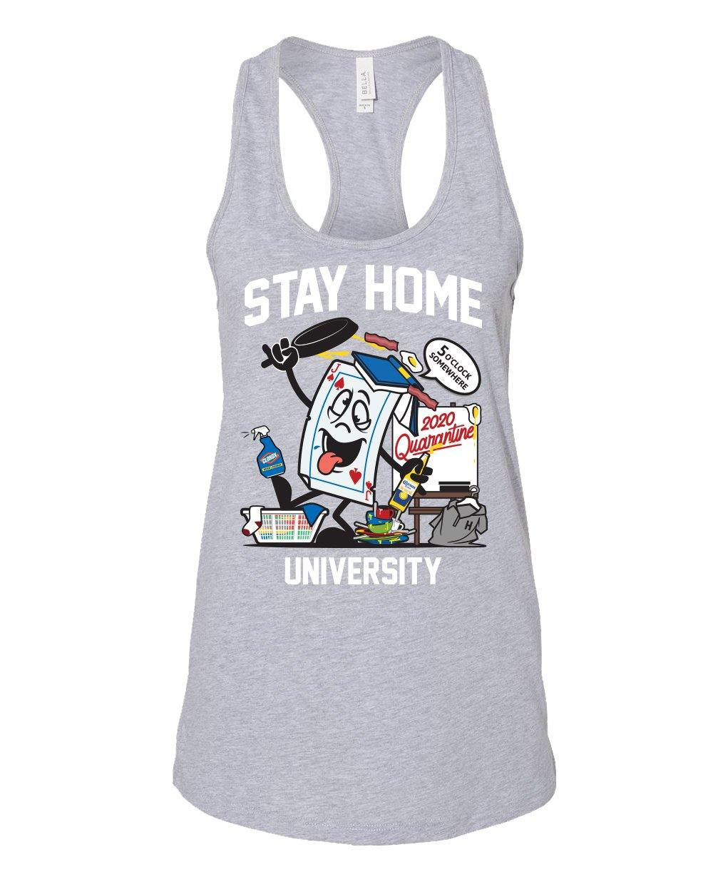 STAY HOME UNIVERSITY - RACERBACK - Shops by Green Gorilla