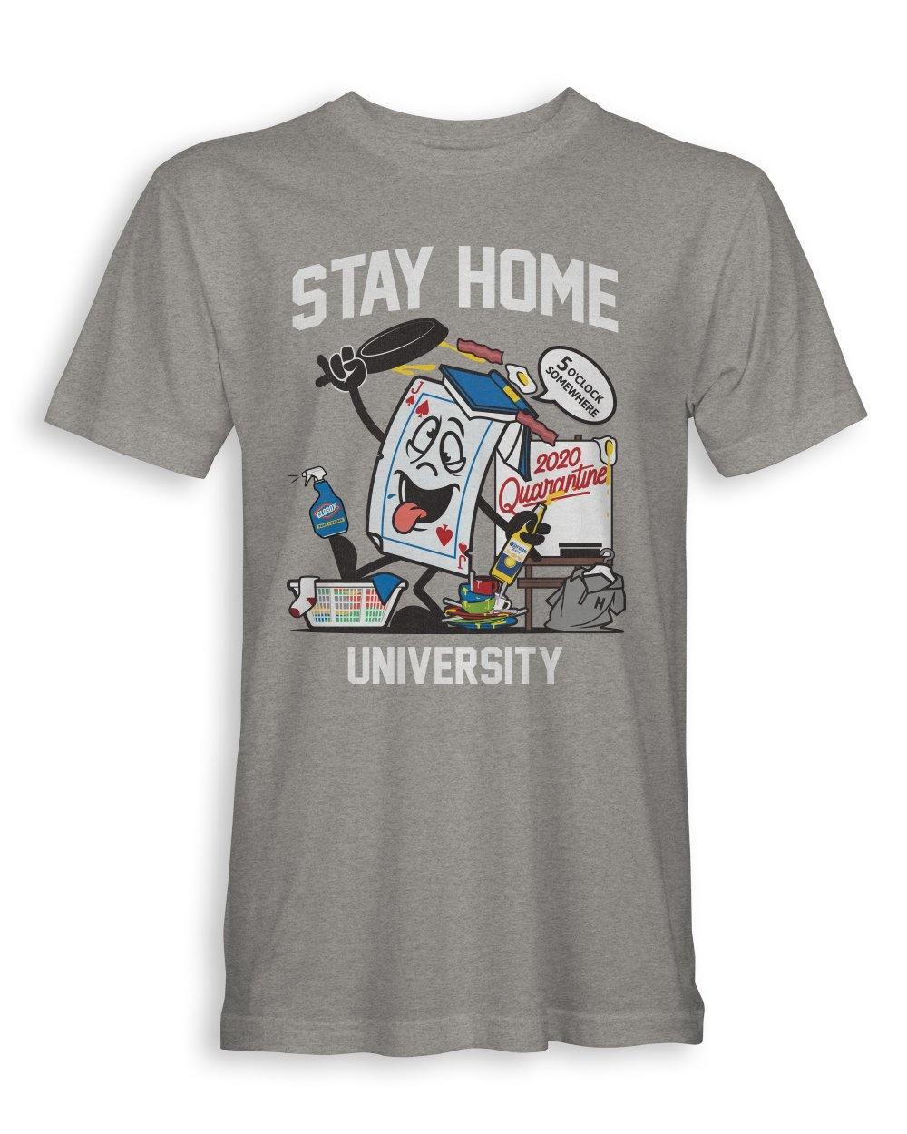 STAY HOME UNIVERSITY - UNISEX TEE - Shops by Green Gorilla
