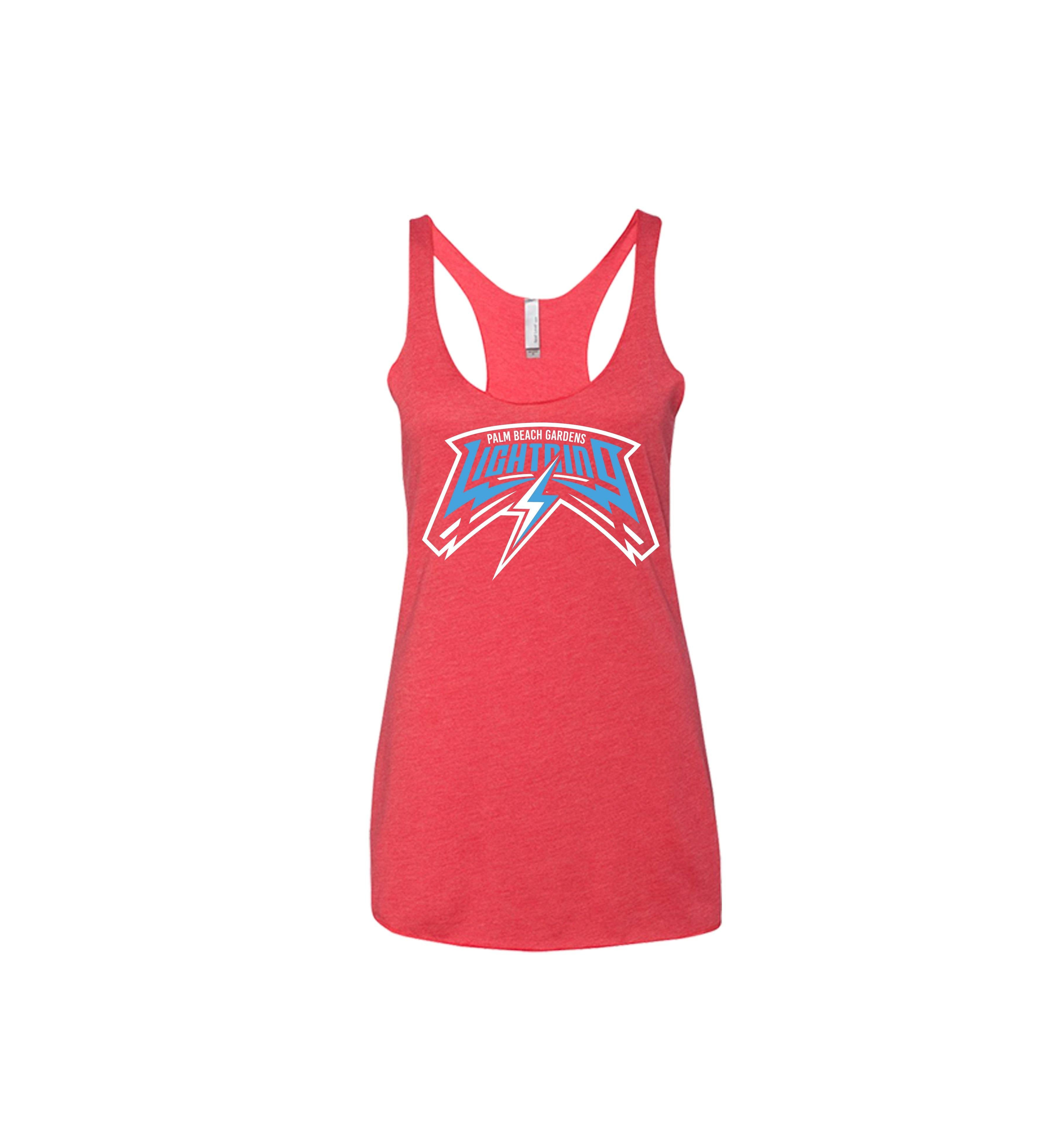 PBG BLUE Lightning Women's Racerback - Shops by Green Gorilla