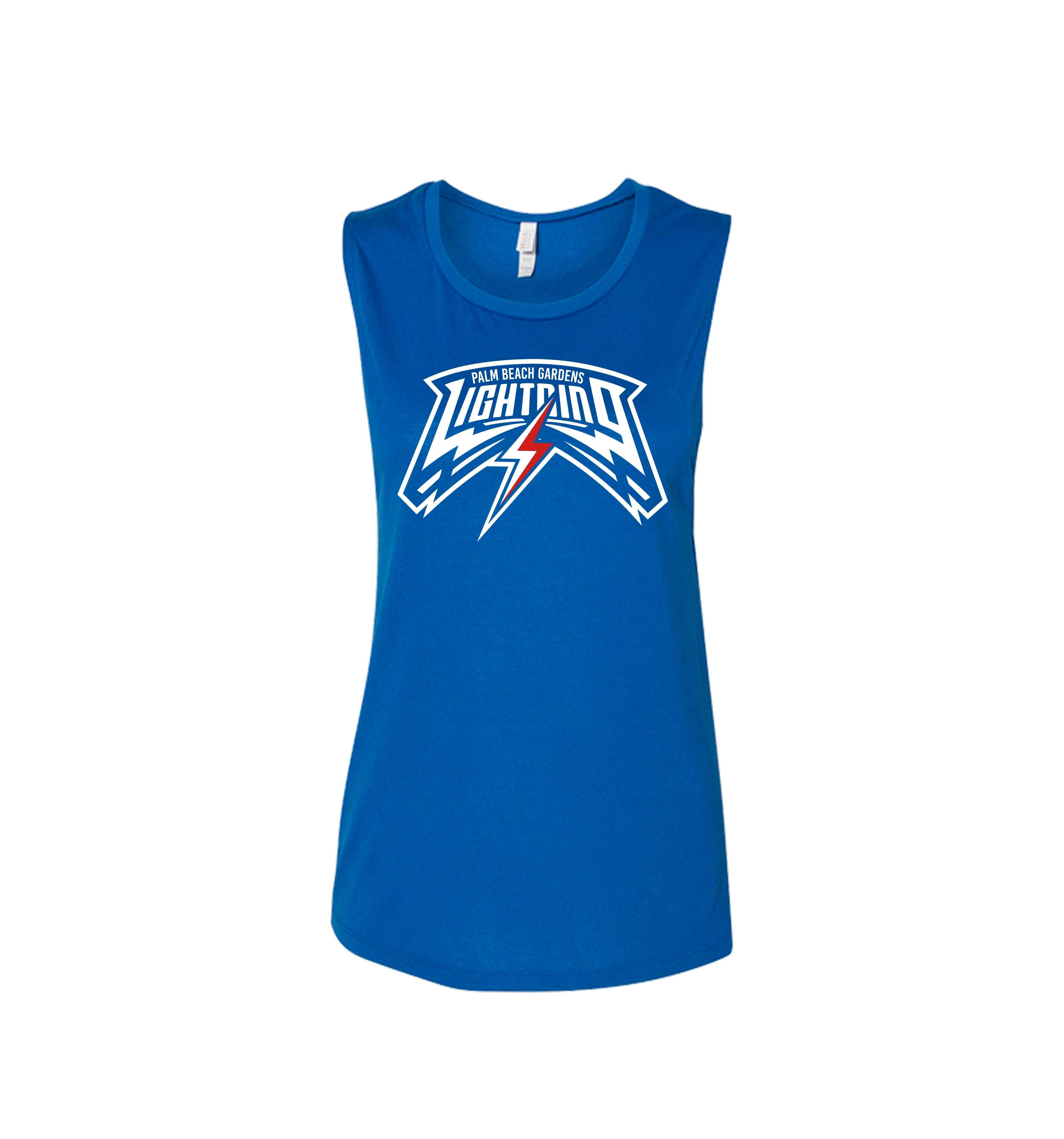 PBG RED BOLT Lightning Women's Muscle Tank - Shops by Green Gorilla