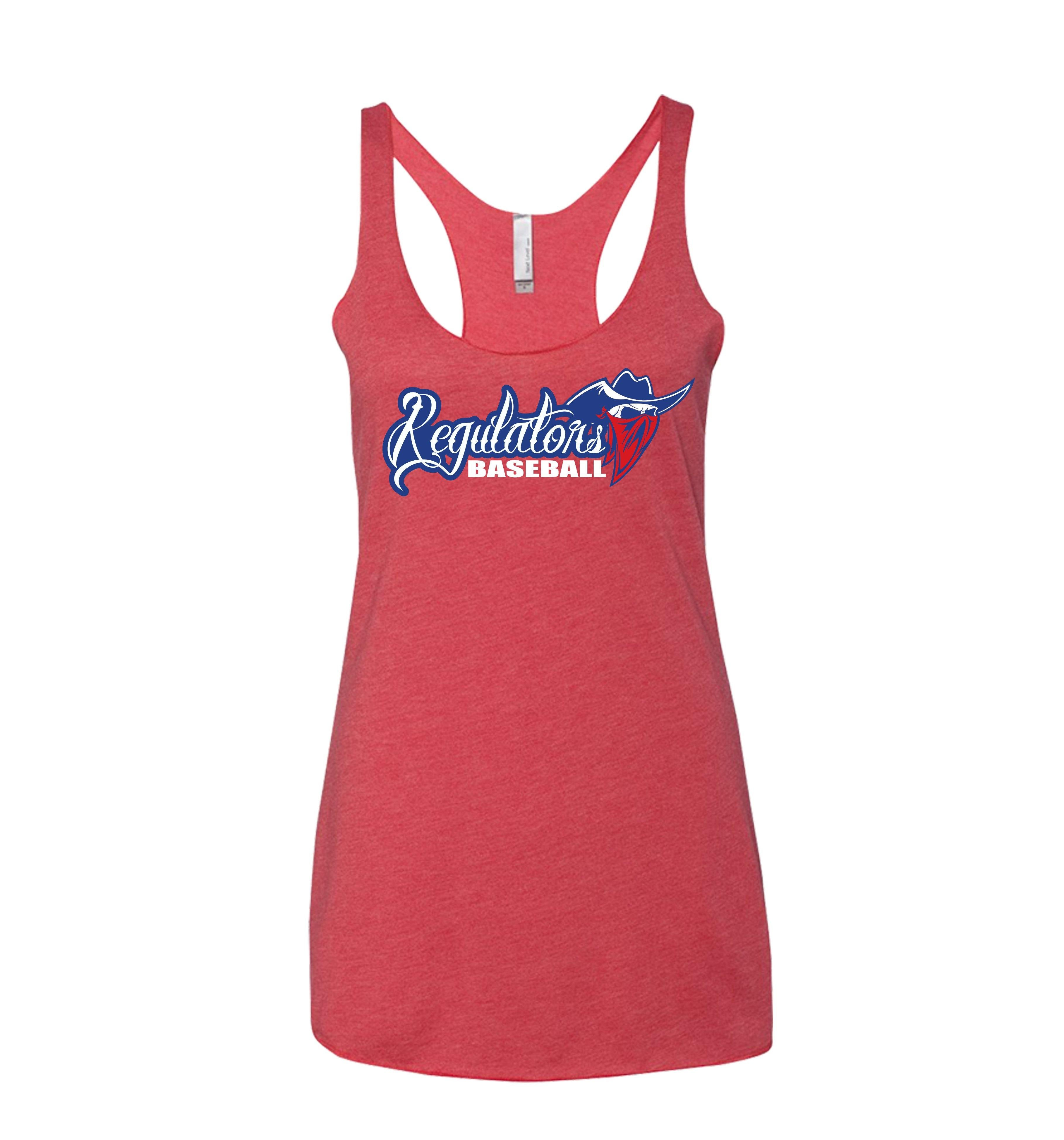 Regulators Baseball: Red, White and Blue Racerback - Shops by Green Gorilla