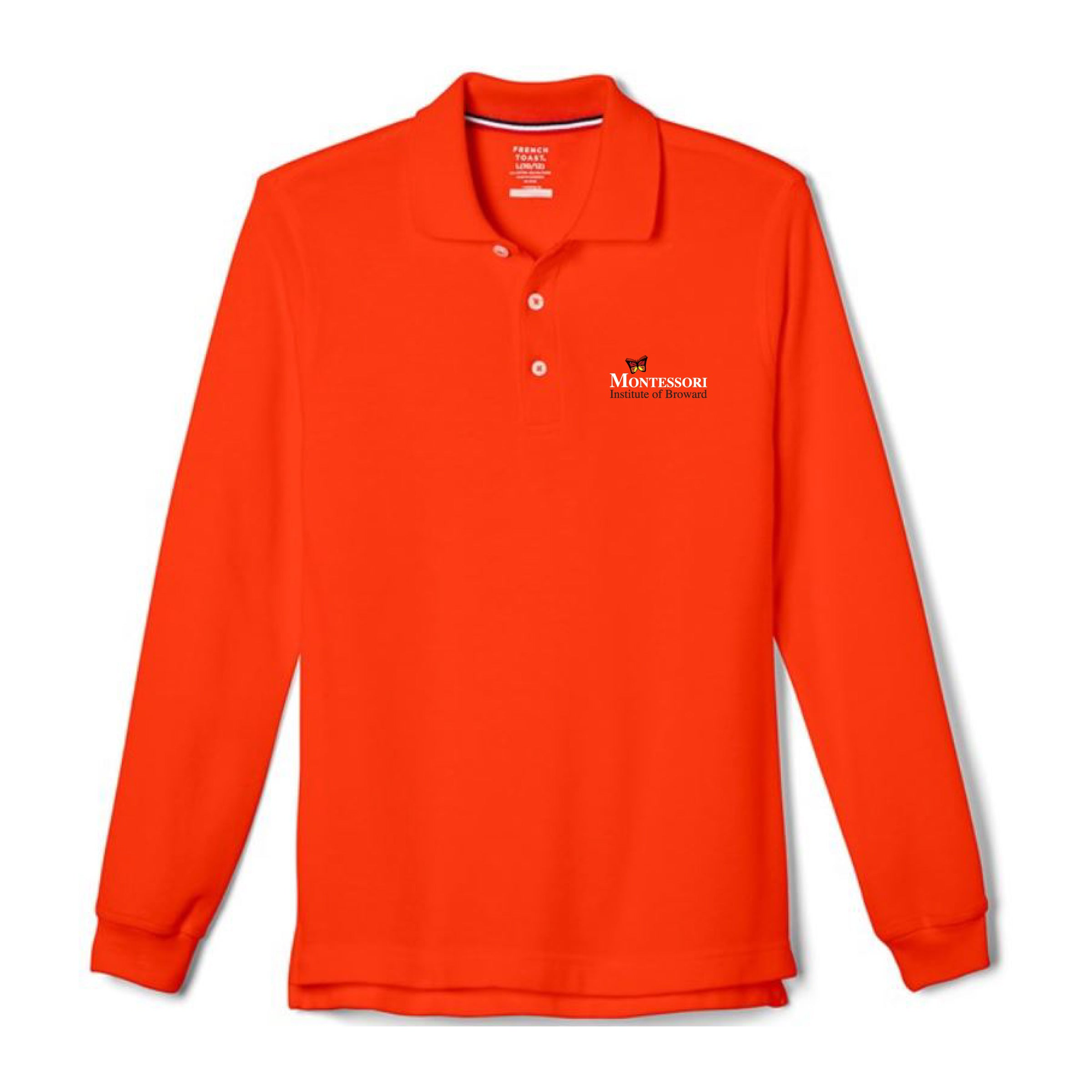 Montessori Institute of Broward - YOUTH Long Sleeve Pique Polo