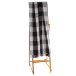 Black and White Buffalo Plaid Cotton Throw