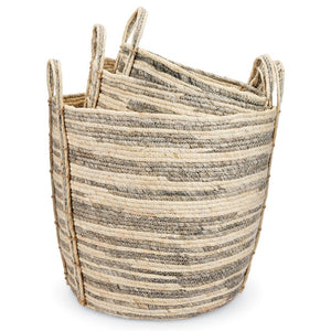 Gray Stripe Baskets