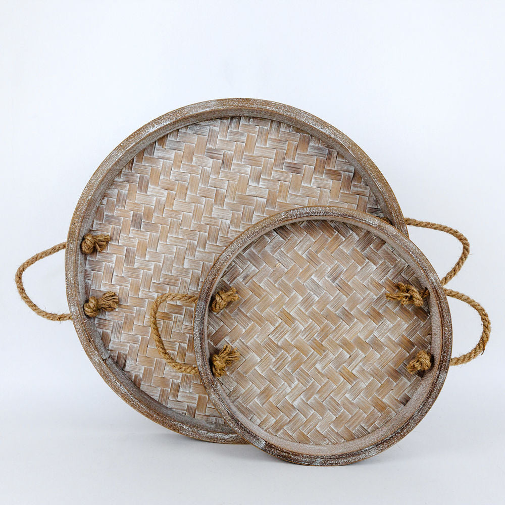 Natural Bamboo Tray with Handle