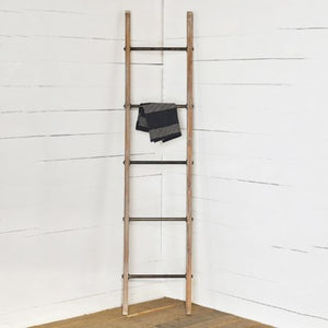 Wood and Metal 5 Rug Ladder