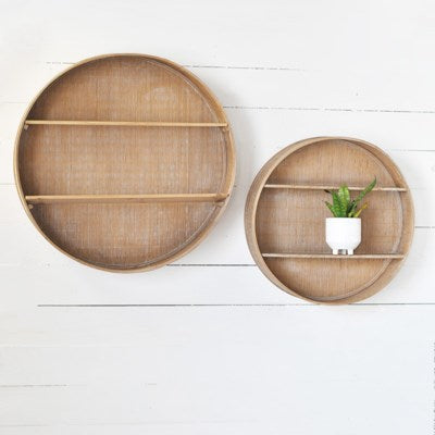 Round Bamboo Shelves