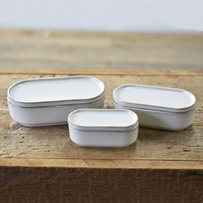 Set of 3 Oblong Cannisters