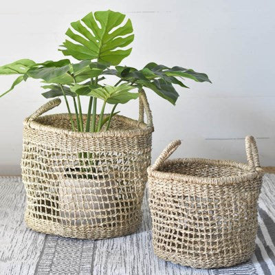 Natural Seagrass Baskets - 2 size options