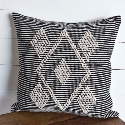 Diamond and Stripe Boho Pillow