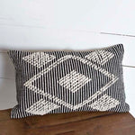 Lumbar Diamond and Stripe Boho Pillow