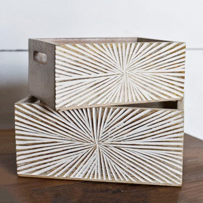 Starburst Wood Boxes
