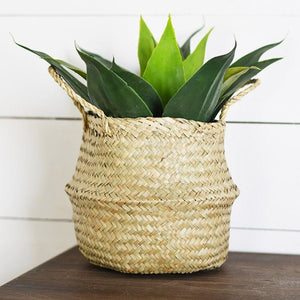 "8"" Natural Seagrass Basket"